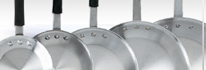 Eagelware® Natural Aluminum Fry Pans